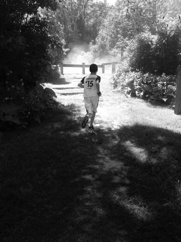 trail running kid
