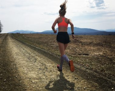 running girl on the right path
