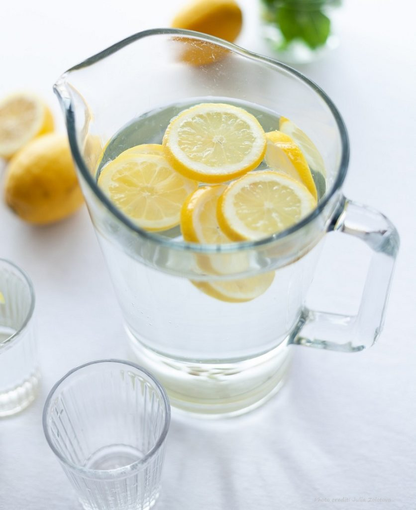 lemon infused water to stay hydrated training runs sport drink more water
